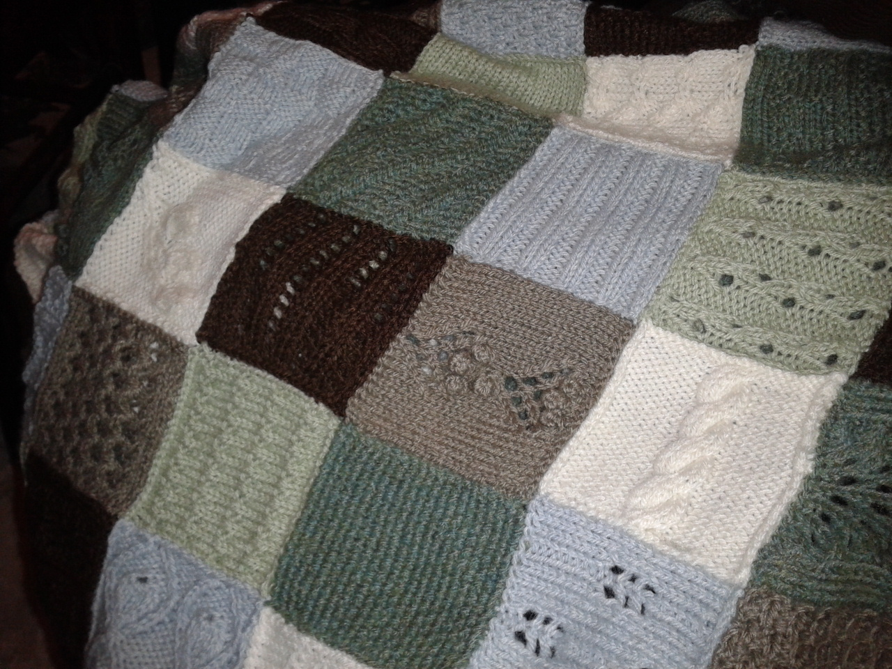 knitted squares knit club